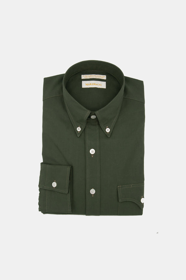 Maker & Co. Olive Cotton Western Shirt