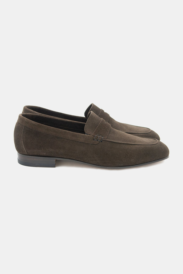 Rivolta Aria Milano Loafer in Chocolate Suede