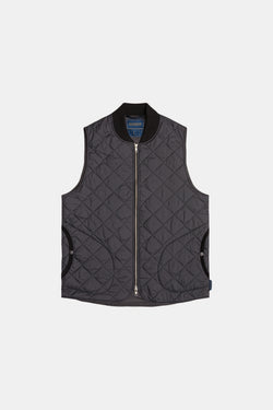 Lavenham Bomber Gilet In Lamp Black