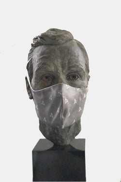 Grey Skull & Bones Mask with Microfiber Cotton Lining
