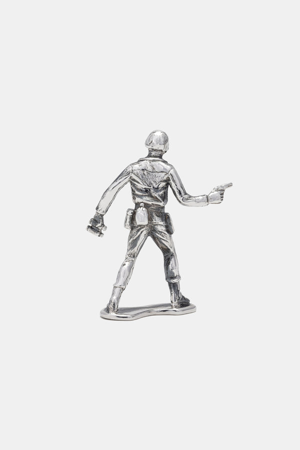Sterling Silver Army Standing Officer