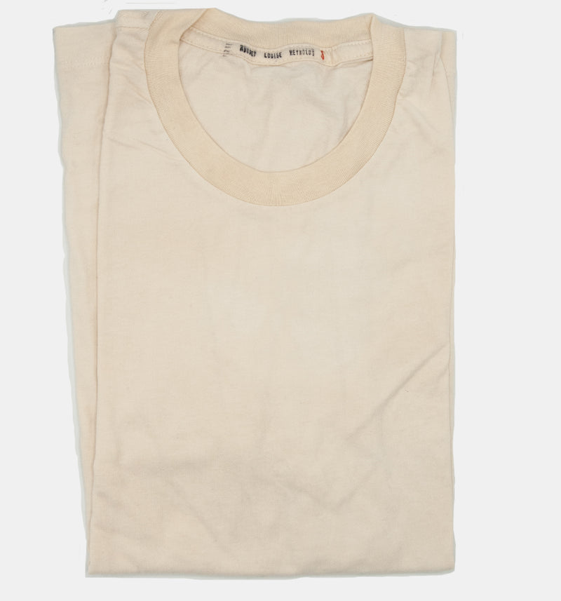Organic, hand-dyed T-shirt in Parchment