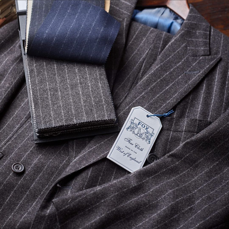 Classic Chalk Stripe Wool Flannel (by the meter)