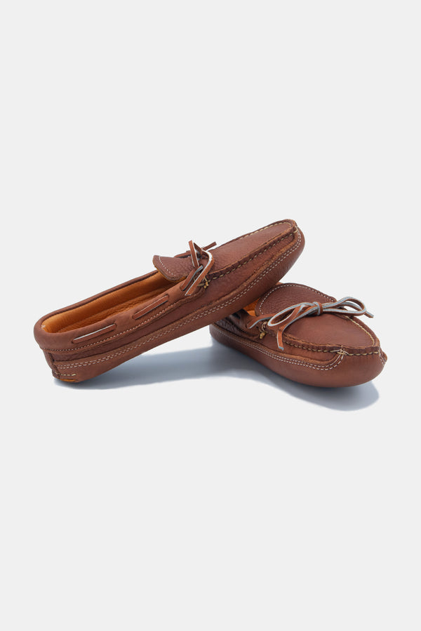 Buffalo Hide Soft Sole Moccasin in Caramel