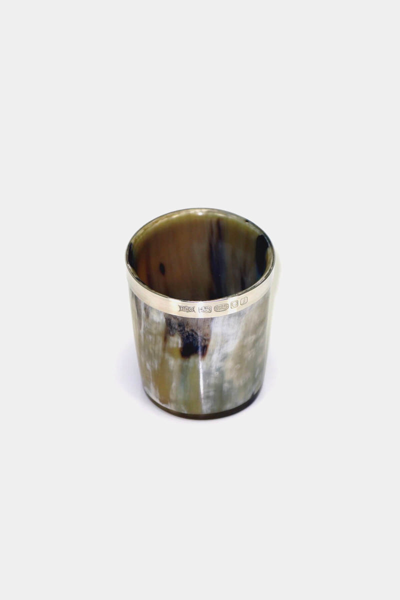 Silver Banded Horn Whisky Tot