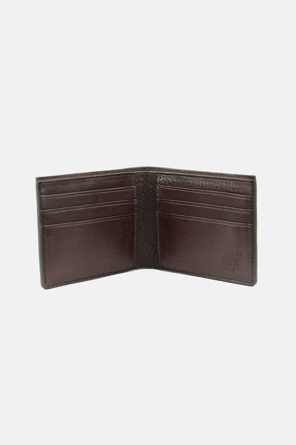 Frank Clegg Bi-fold Wallet in Shrunken Bison