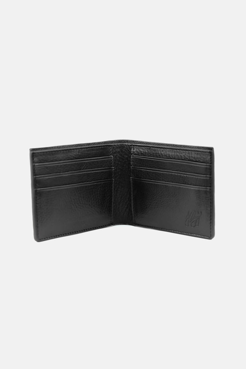 Bi-fold Wallet in Shrunken Bison