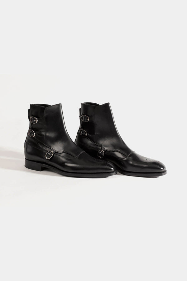 Barker Black Lavenum Boot in Black Calf