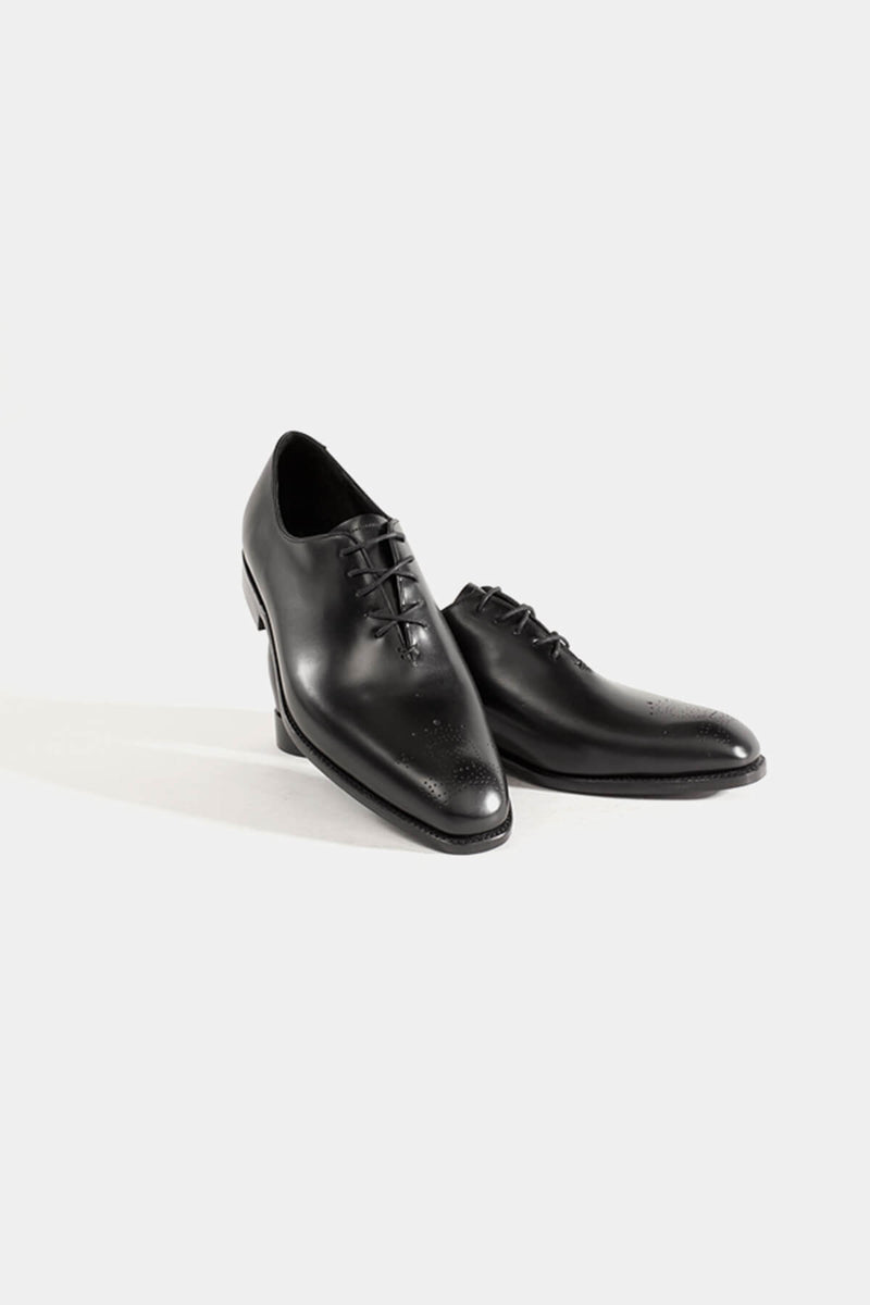 Barker Black Straton Whole Cut Lace up Shoe