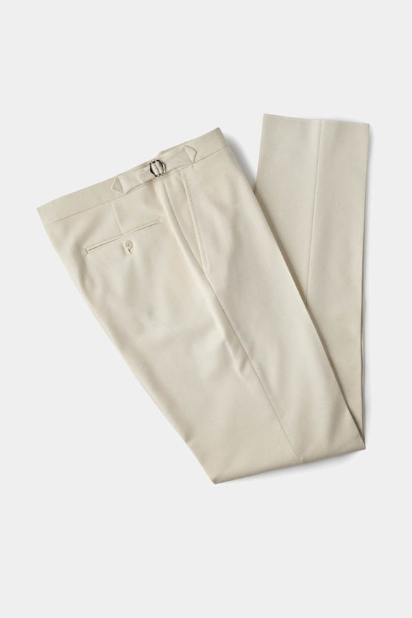 Cream Flannel Cricket Trousers