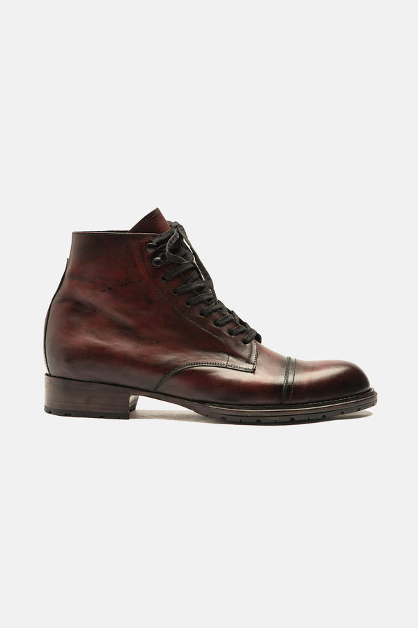 Bordeaux Handburnished Vern Boot