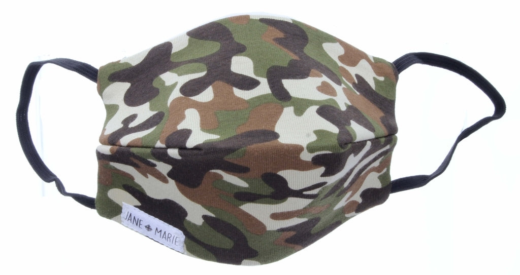 JM Kids Mask - Green Camo
