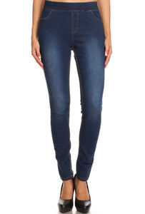 Non-Distressed Jeggings