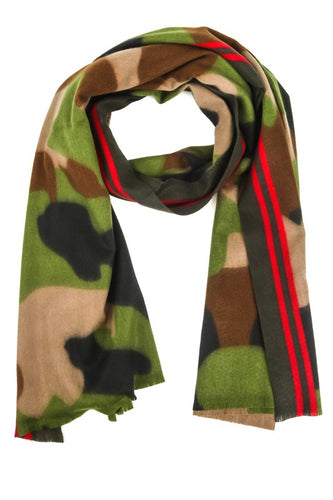Out of Your League Army Print Scarf