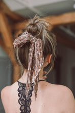 Load image into Gallery viewer, Mocha Floral Hair Scarf
