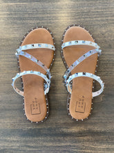 Load image into Gallery viewer, Belara Studded Sandal - White