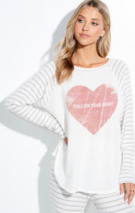 Follow Your Heart Top-Ivory