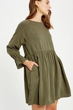 Calling Your Name Dress- Olive