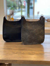 Load image into Gallery viewer, Ahdorned Mini Vegan Distressed Leather Messenger Bag - Grey