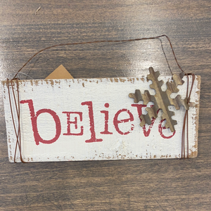 Large Christmas Ornaments- Believe