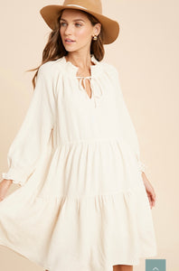Falling For you Dress- Cream