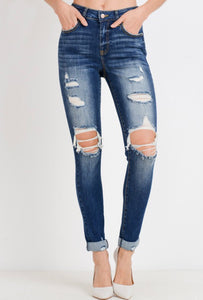 Ces't Toi Distressed Skinnies - Kennedy Wash