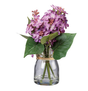 Purple Lilac Jar Floral