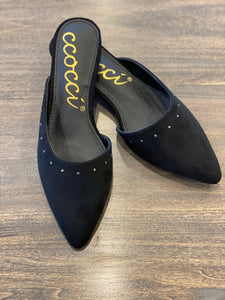 The Molly Flat Shoe-Black