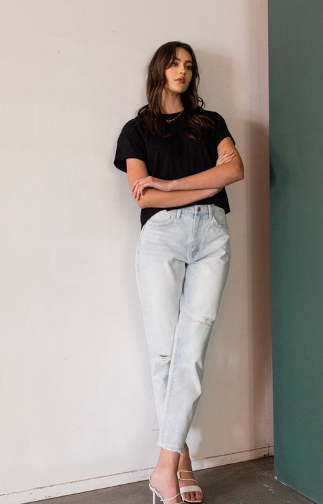 Milly High Rise Mom Jeans- Light Wash
