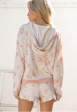 Load image into Gallery viewer, Field of Dreams Hoodie- Floral Blush