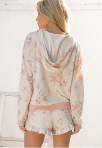Field of Dreams Hoodie- Floral Blush