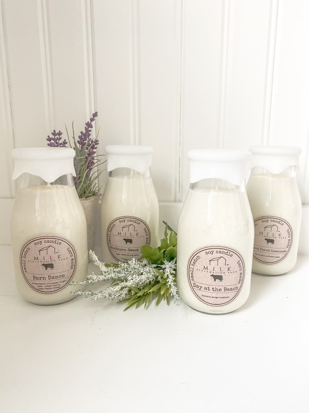 Milk Bottle Candles