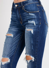 Load image into Gallery viewer, Ces't Toi Distressed Ankle Skinnies - Parker Wash