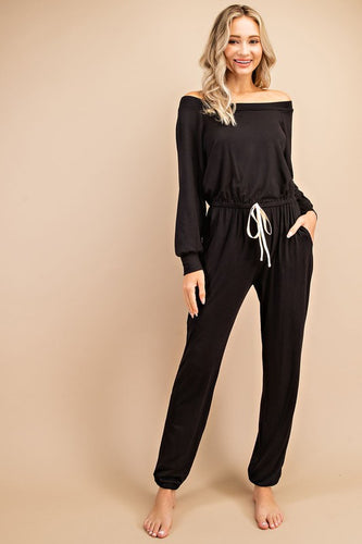 The Slouchy Jumpsuit- Black