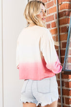 Load image into Gallery viewer, Love Cropped Top- Pink/Ivory Ombre