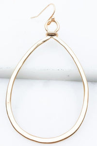 Teardrop earrings- Gold