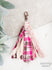 Pleasantly Plaid Tassel Keychain, Pink