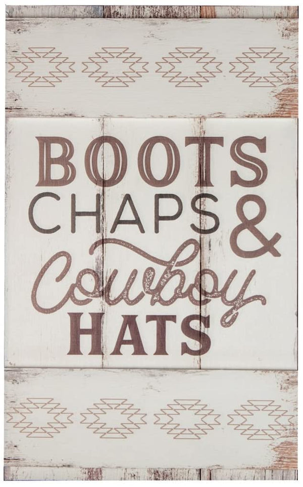 Boots Chaps & Cowboy Hats Embellished Decor