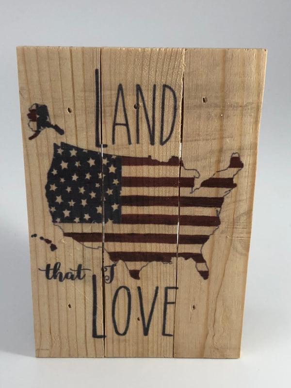 Land that I Love Pallet Decor