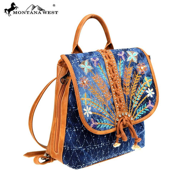 Montana West Embroidered Collection Backpack