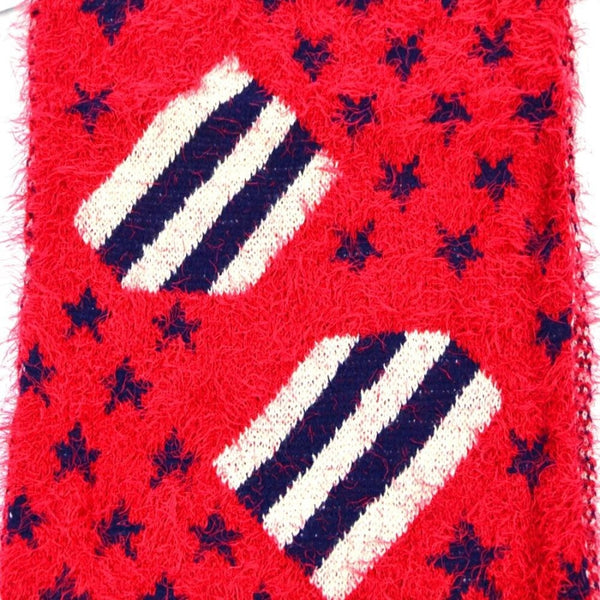 American Flag Pattern Infinity Scarf-Red - Scarves & Bandanas