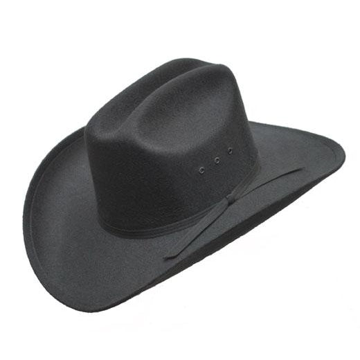 Black Faux Felt Cowboy Hat - Accessories