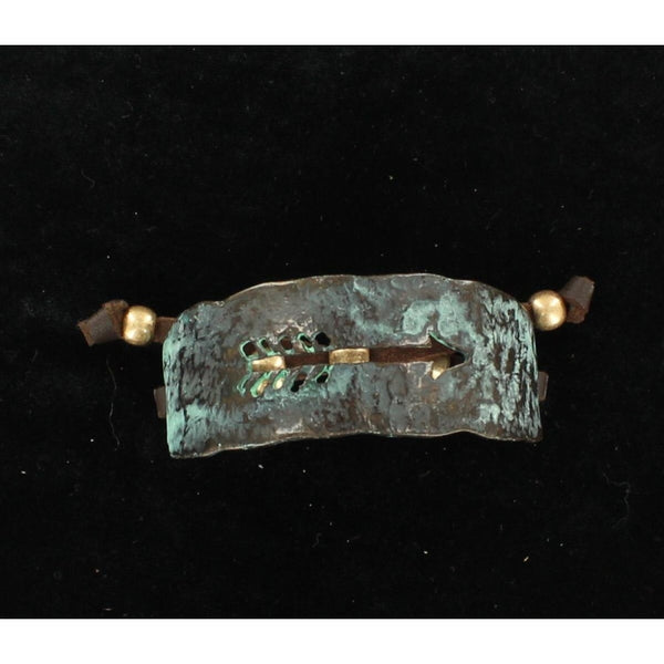 Blazin Roxx Western Jewelry Womens Leather Bracelet Patina Arrow Turquoise - Accessories