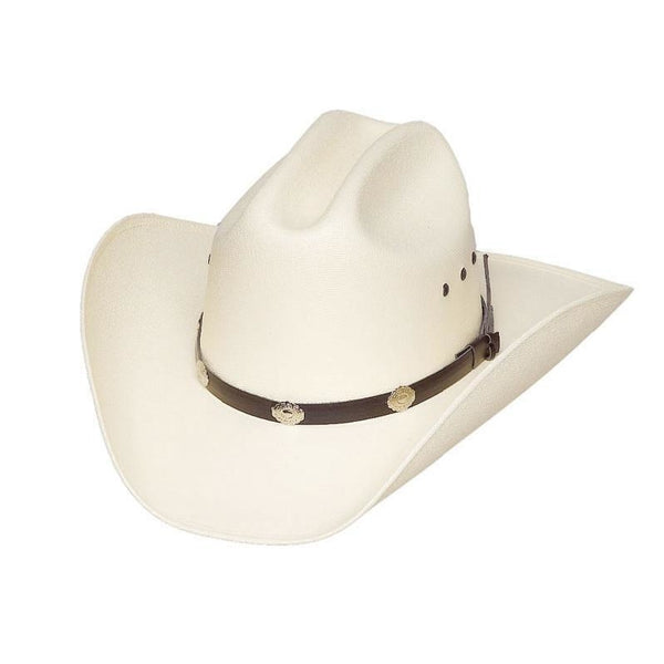 Cattle Straw Hat Silver Concho - Accessories