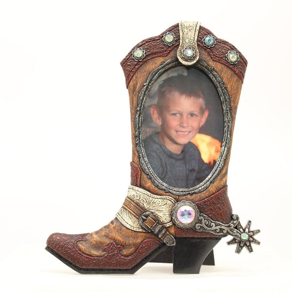 Cowboy Boot Photo Frame - Lifestyle