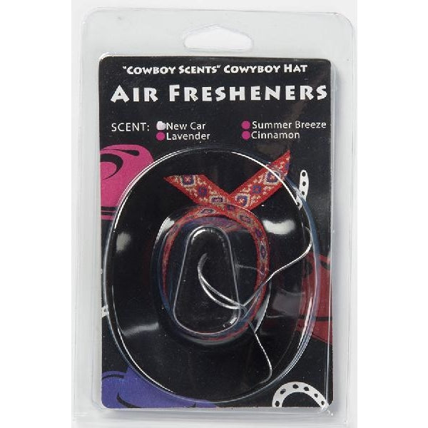 Cowboy Hat Air Freshener - Black - Accessory
