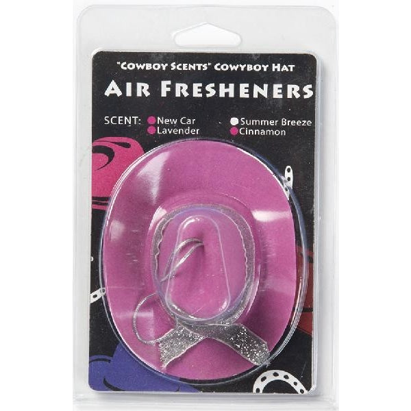 Cowboy Hat Air Freshener - Pink - Accessory