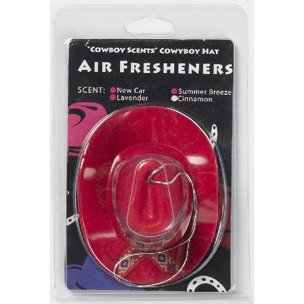 Cowboy Hat Air Freshener - Red - Accessory