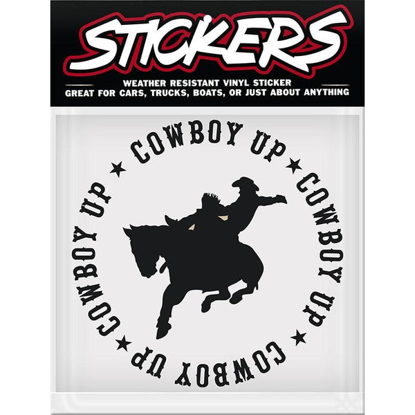 Cowboy Up Sticker Made In Usa 5-1/2 X 5-1/2 - Lifestyle