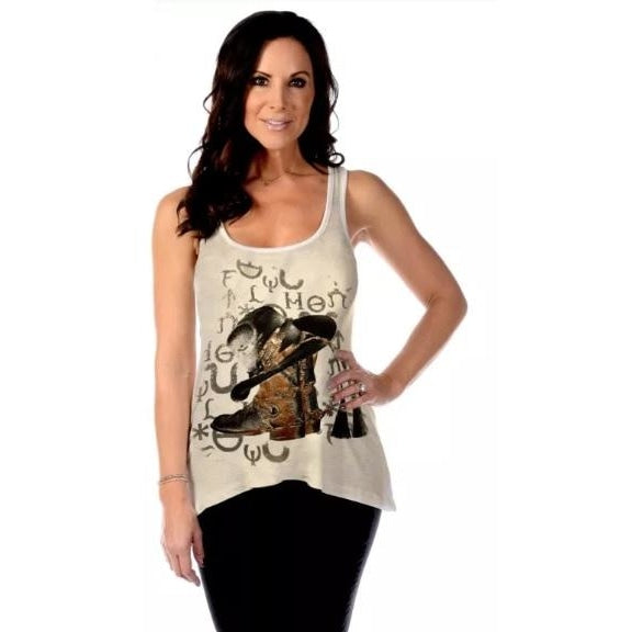 Cowgirl At Heart In Oatmeal - Womens Tops
